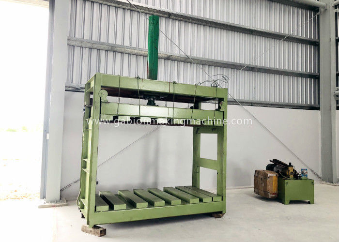 Zinc Coated Reno Gabion Mesh Press Machine / Gabion Mattress With Automatic Oil System