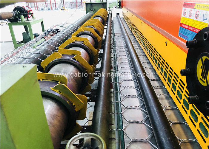 High Speed Hexagonal Mesh Machine ,  22kw Double Twist Gabion Wire Mesh Machine
